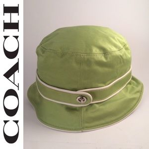 Coach Bucket Hat Sz M/L Green